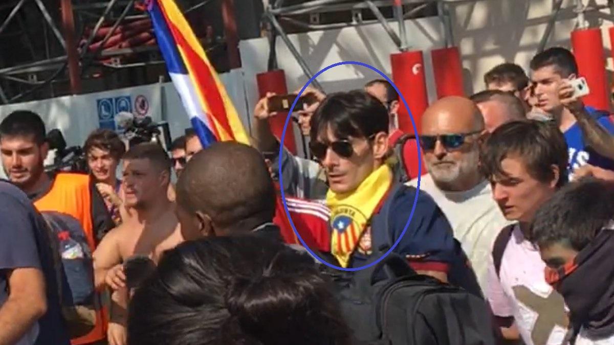Detenido el independentista que le rompió la nariz al Policía Nacional de paisano el 29-S