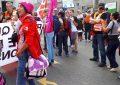 Pillan a la independentista Anna Gabriel haciendo de sindicalista