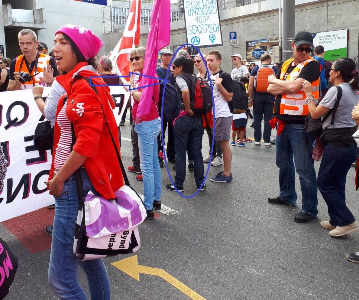 Pillan a la independentista Anna Gabriel haciendo de sindicalista en Suiza