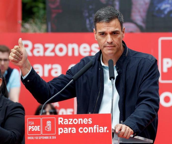 """Sánchez desea un """"buen 11-S"""" a su socios en dialecto catalán """"Bona Diada 2018 a tothom"""""""