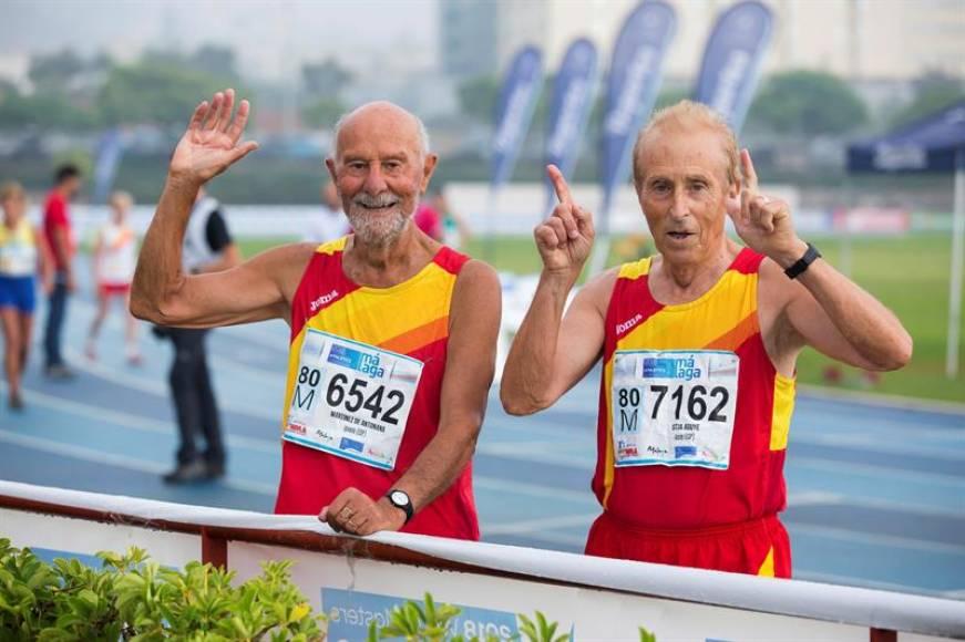 Competiendo a sus 80 años en el Mundial de Atletismo