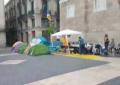 EL independentismo acampa en Pl. San Jaime de Barcelona para prohibir hablar el español