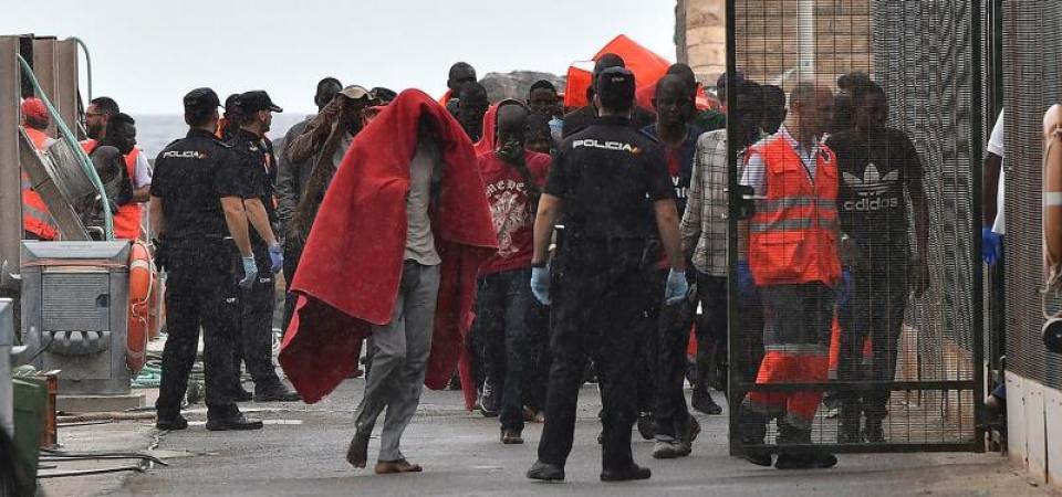 Rescatados, 951 inmigrantes de 28 pateras en las costas españolas