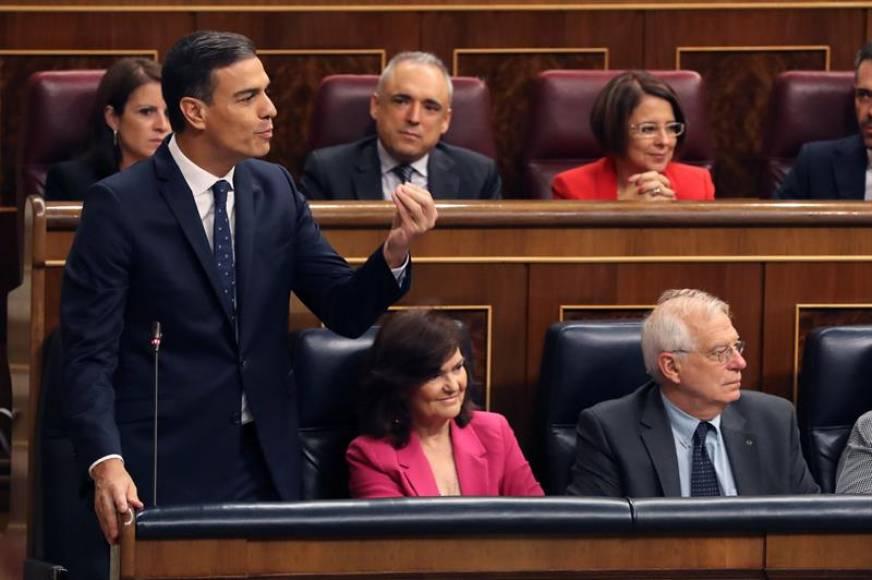 Sánchez acusa PP y Cs de bloquear los presupuestos del PSOE, Podemos e independentistas