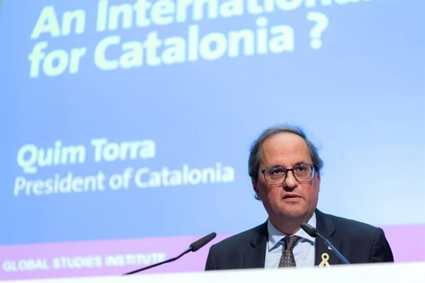 """Torra: """"O España deja que Cataluña se vaya"""" o Sánchez """"negocia de buena fe"""" la independencia"""