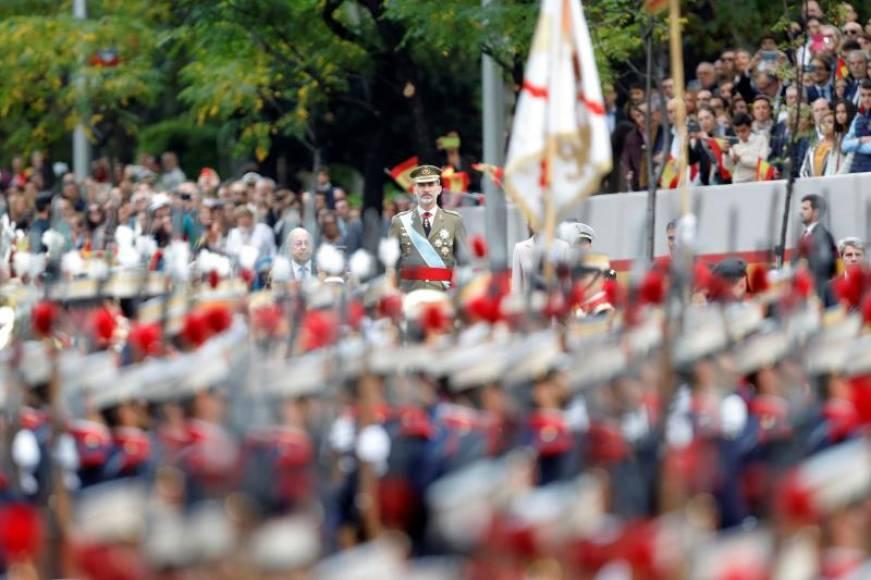 Las condiciones meteorológicas obligan a suspender el desfile de la Fiesta Nacional en Madrid