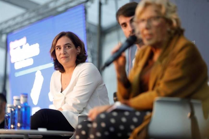 """Colau y Carmena: Hemos iniciado el """"cambio"""" y toca """"ir al segundo mandato"""" en 2019"""