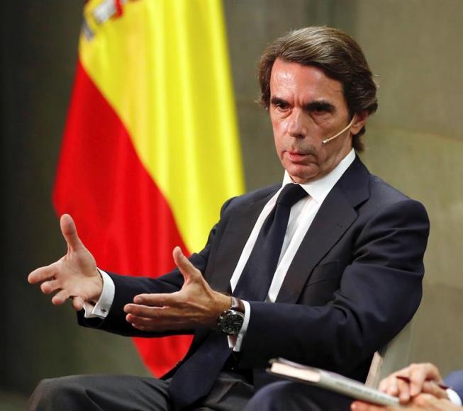 """Aznar: """"El golpe de Estado continúa en Cataluña"""""""