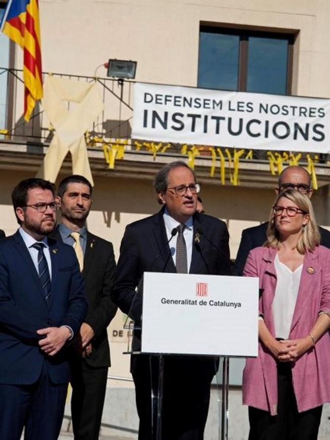 """Torra llama a """"recuperar el espíritu"""" del 1-O de cara al """"nuevo"""" referéndum de independencia"""