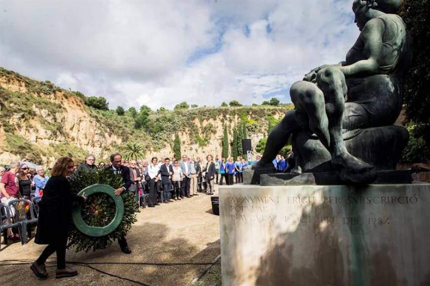 Torra blanquea el holocausto de la República Catalana con homenaje al violador Companys