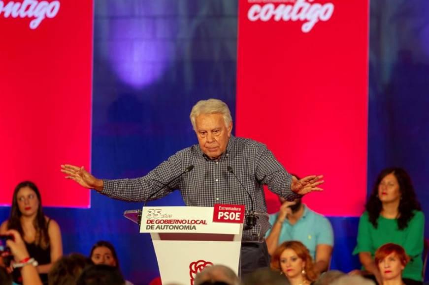 """Felipe González: El secesionismo """"no puede ser excusa"""" ni condicionar al resto de España"""