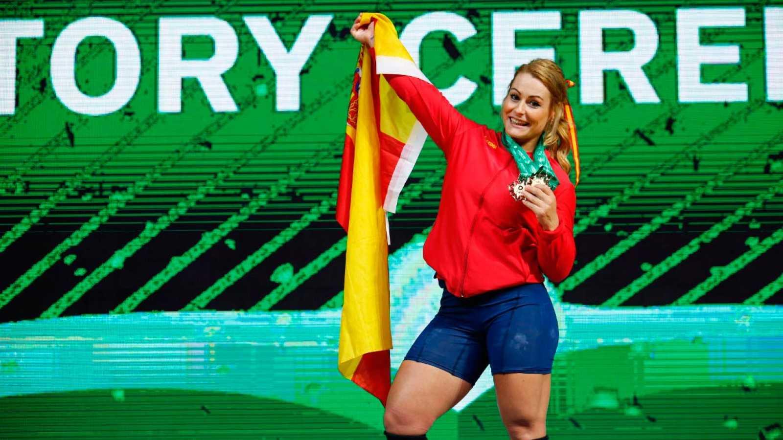 La española Lydia Valentín, campeona del mundo de halterofilia