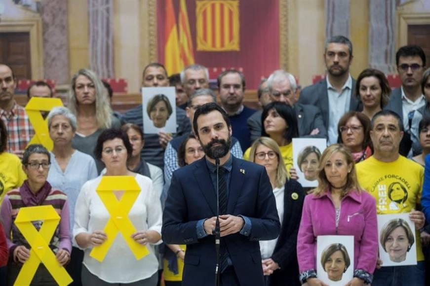 Independentistas y Podemos rompen en lágrimas en el primer aniversario de Forcadell en prisión