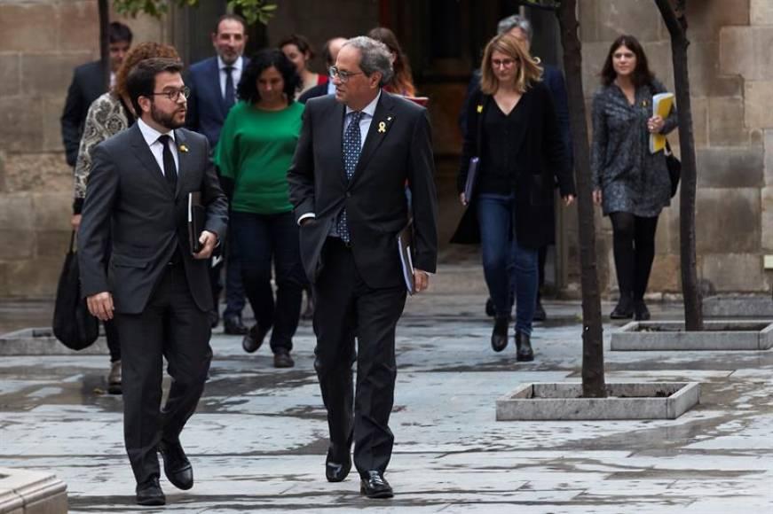 La cumbre independentismo, PSOE, Podemos y Torra, sin acuerdo sobre la independencia