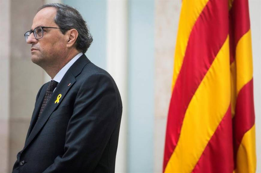 Torra solicita comparecer urgente mañana en la cámara catalana sobre el 'Procés'
