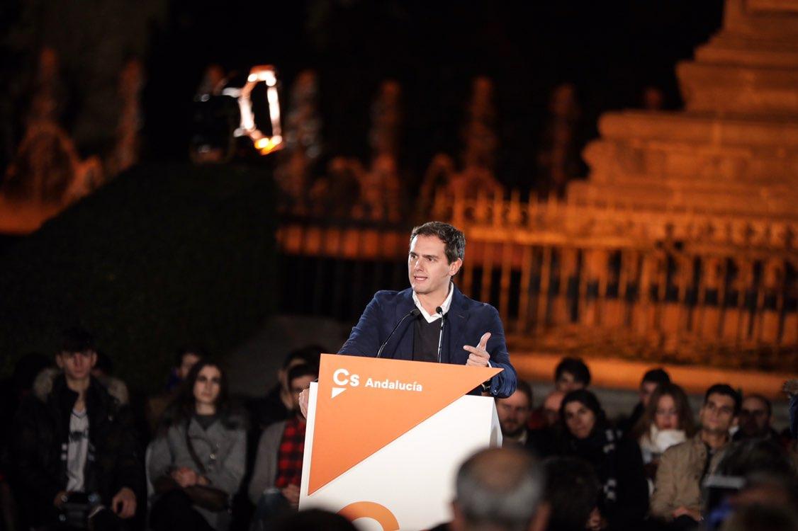 """Rivera llamar a castigar a los del """"Gürtel y EREs"""" el 2-D en Andalucía"""