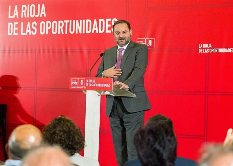 """Ábalos: Sánchez y PSOE """"tienen un proyecto para España y garantia de estabilidad"""""""