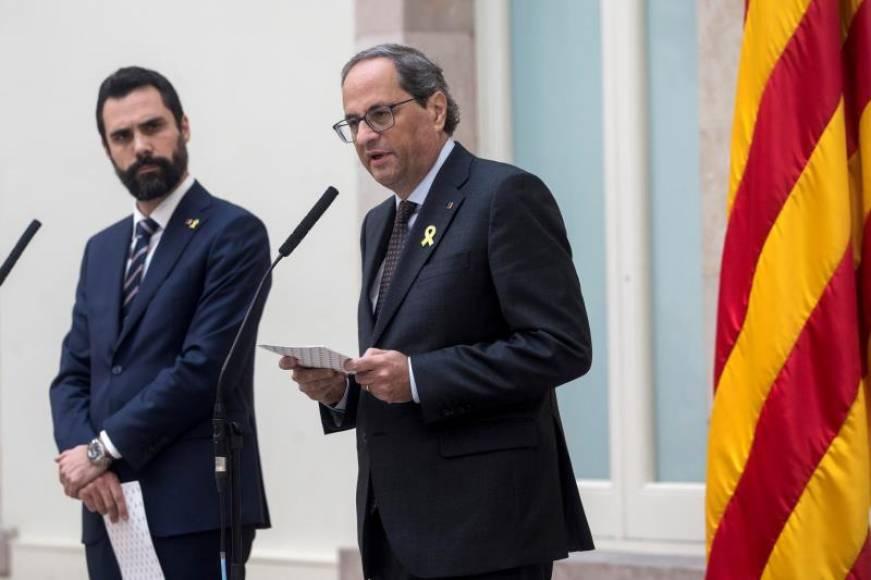"""Torra: """"Estos son 200 años de cárcel"""" de Fiscalía, """"nunca votaremos los presupuestos"""" de Sánchez"""