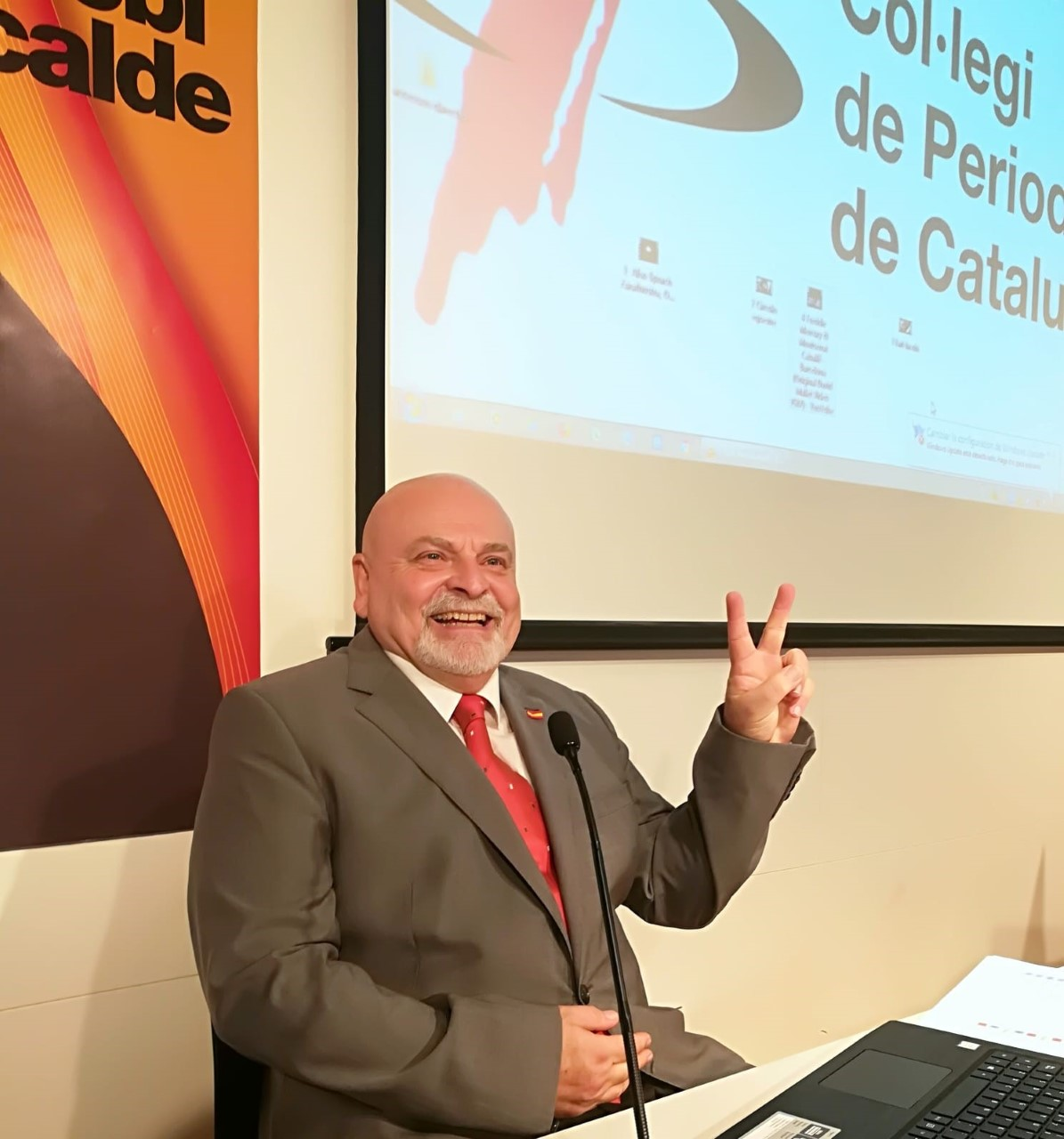 Karl Jacobi, empresario que increpó Torrent, presenta su candidatura a Barcelona
