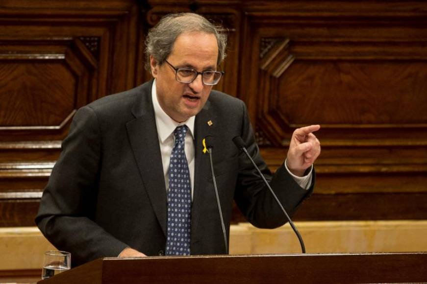 "Torra: Pediré a Sánchez el 20-D un ""referéndum de independencia de Cataluña"""