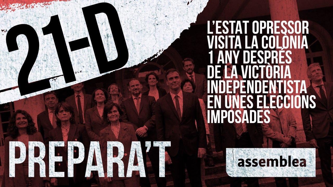 Emboscadas del independentismo el 21-D en Cataluña contra el Consejo de Ministros