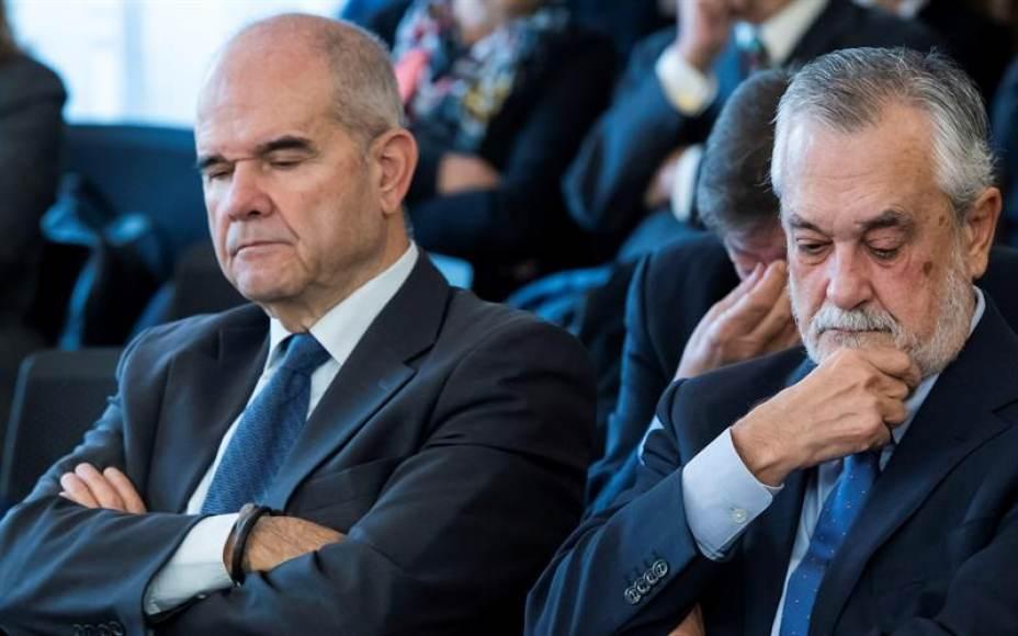 El Tribunal de los EREs falsos del PSOE absolvería a corruptos socialistas Chavez y Griñán