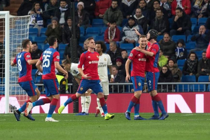 CSKA de Moscú humilla al Real Madrid en la 'Champión' (0-3)