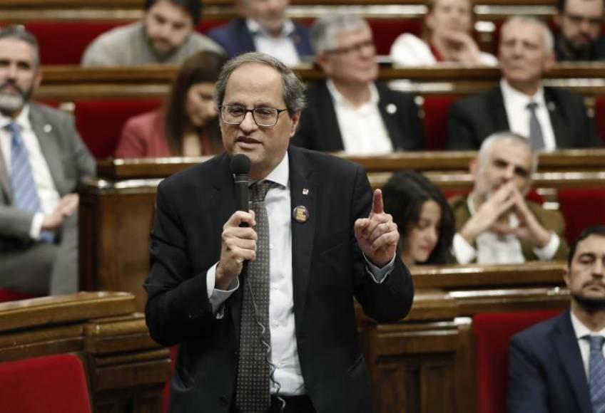 Torra pide a Sánchez que no haga caso a VOX porque Cataluña quiere votar