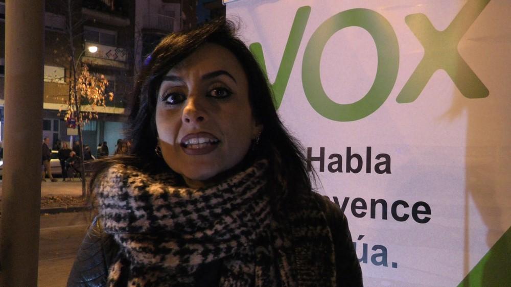 """Alicia: """"No nos vamos a callar. VOX viene para llenar el vacío político en Terrasa"""" y resto de España"""