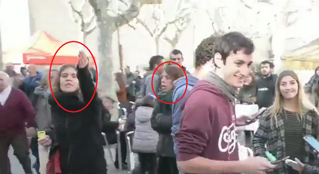Arrimadas sufre en sus carnes las agresiones independentistas en Barcelona