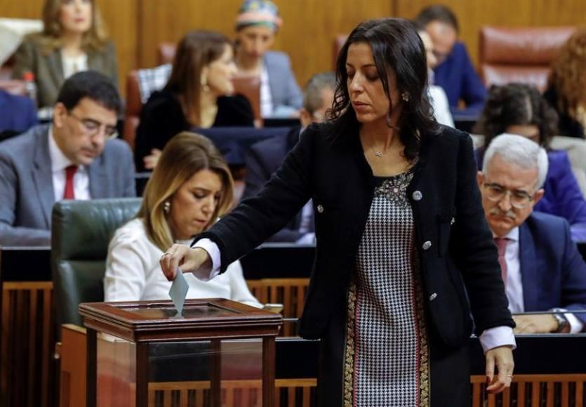 Mayoría (PP, Cs y VOX) elige a Marta Bosquet (Cs) a la Presidencia del Parlamento andaluz