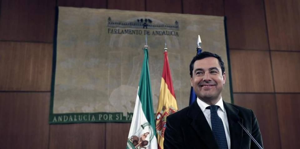 Juan Manuel Moreno Bonilla (PP), gobernará de Andalucía con apoyo de VOX