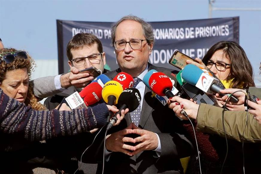 Torra pide protección de Guardia Civil y Policía N. cuando vaya a Madrid al Juicio Procés