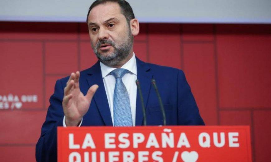 FOTOGRAFÍA. MADRID (ESPAÑA), 25.02.2019. El secretario de Organización y ministro de Fomento, José Luis Ábalos, durante la rueda de prensa. Efe