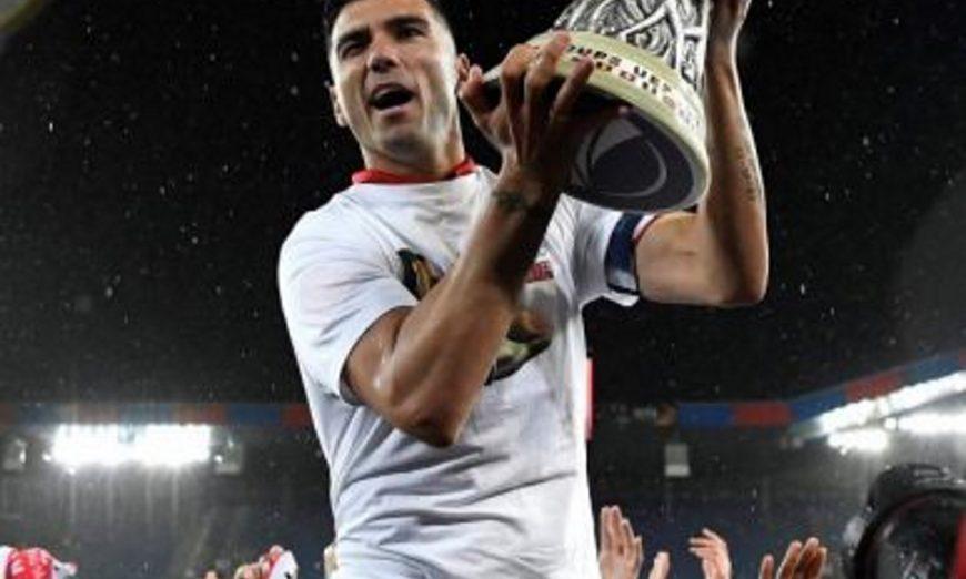 FOTOGRAFÍA. 18.05.2016. Vista del futbolista español Jose Antonio Reyes tras ganar con el Sevilla la Liga de Europa. El futbolista José Antonio Reyes falleció. Efel
