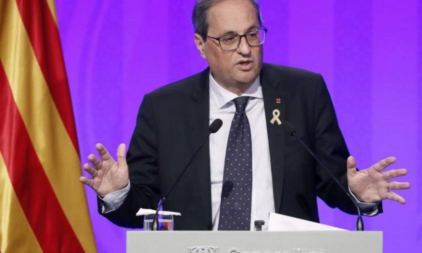 FOTOGRAFÍA. BARCELONA (ESPAÑA), 04.06.2019. El independentista presidente generalidad de Cataluña, Quim Torra Pla. Efe.