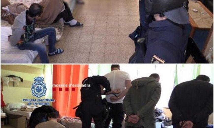 FOTOGRAFÍA. BARCELONA (ESPAÑA), 07.06.2019. Imagen facilitada por la Policía Nacional que, en una operación conjunta con los Mozos de Escuadra, han desarticulado en Barcelona. Efe