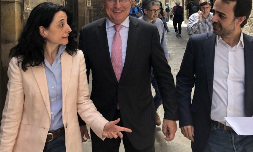 FOTOGRAFÍA. BARCELONA (ESPAÑA), 14.07.2019. El alcaldable del PP por Barcelona y concejal electo, Josep Bou (c), se presentará a la investidura por 'coherencia'. Ñ Pueblo