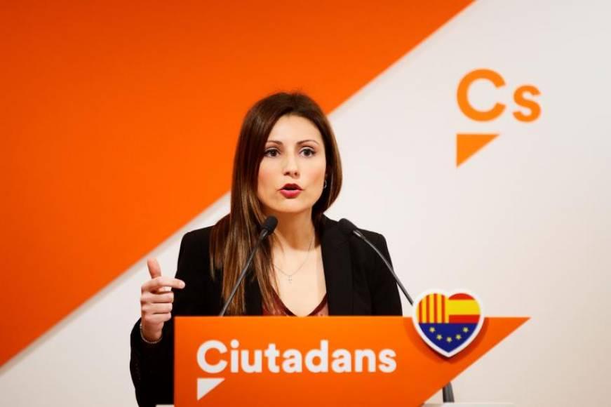 """Ciutadans """"Alternativa de Govern"""" FOTOGRAF%C3%8DA.-BARCELONA-ESPA%C3%91A-A%C3%91O-MAYO-DE-2019.-La-portavoz-de-Ciudadanos-Cs-en-el-Parlamento-de-Catalu%C3%B1a-Lorena-Rold%C3%A1n.-Efe"""