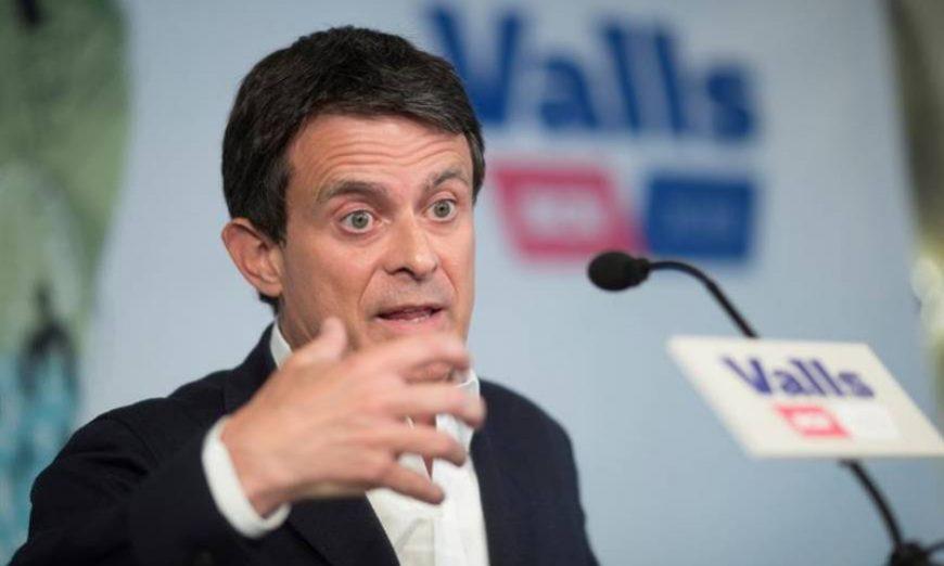FOTOGRAFÍA. BARCELONA (ESPAÑA), MAYO DE 2019. El exprimer ministro francés Manuel Valls, en una imagen de campaña electoral de las municipales del 26 de mayo de 2019. Efe