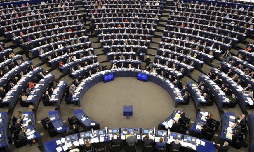 FOTOGRAFÍA. BRUSELAS (BÉGICA), MAYO 2018. Vista de un pleno del Parlamento Europeo coincidiendo con la visita de una delegación de eurodiputados. Efe