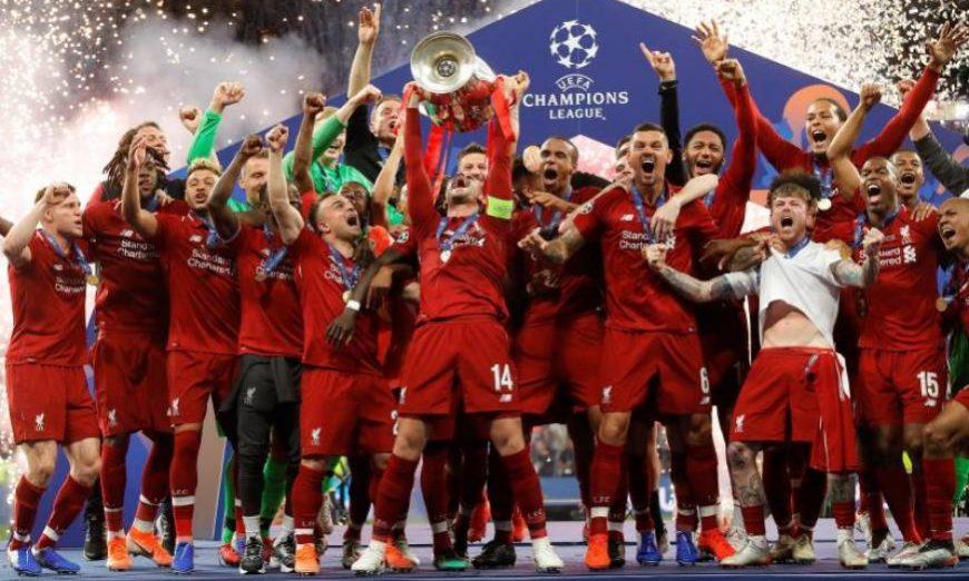 FOTOGRAFÍA. MADRID (ESPAÑA), 01.06.2019. FINAL D ELA LIGA DE CAMPEONES. Los jugadores del Liverpool levantan la Copa de Europa. Efe