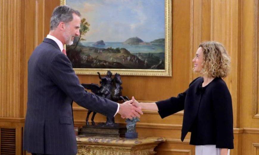 FOTOGRAFÍA. MADRID (ESPAÑA), 03.06.2019. El rey Felipe VI durante la recepción celebrada este lunes, 03 de junio 2019, a la presidenta del Congreso, Meritxell Batet. Efe