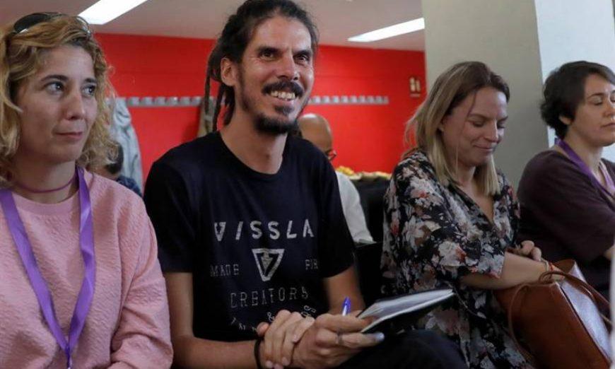 FOTOGRAFÍA. MADRID (ESPAÑA), 08.07.2019. El diputado Alberto Rodríguez, en el Consejo Ciudadano Estatal de Podemos. Efe.