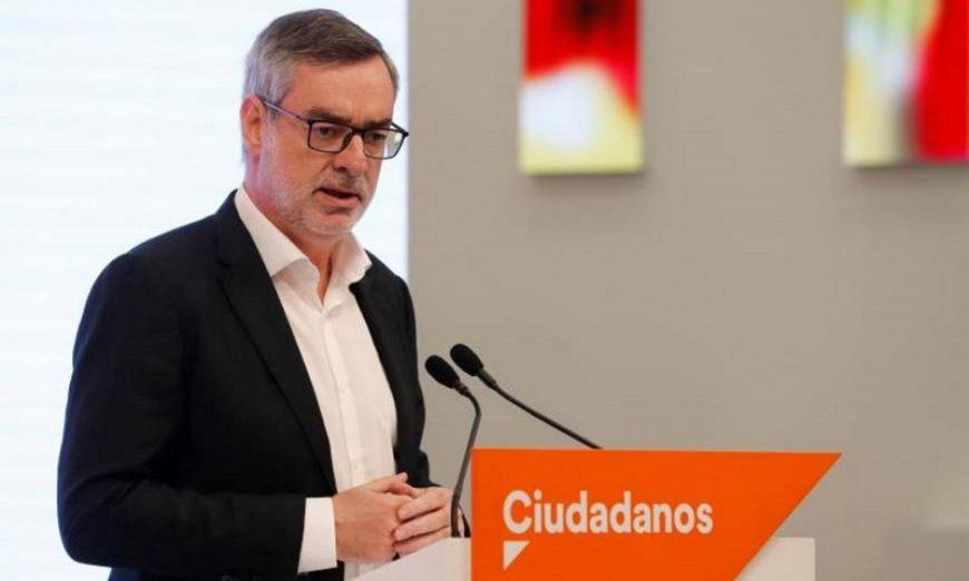 FOTOGRAFÍA. MADRID (ESPAÑA), 10.07.2019. El secretario general de Ciudadanos, José Manuel Villegas, durante la rueda de prensa. Efe.