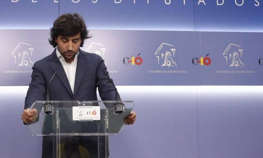 FOTOGRAFÍA. MADRID (ESPAÑA), 24.07.2019. El portavoz de Economía de Ciudadanos en el Congreso, Toni Roldán, durante la rueda de prensa que ha ofrecido hoy en el Congreso. Efe