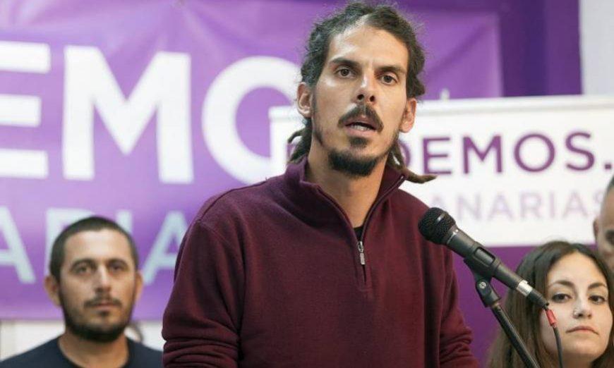 FOTOGRAFÍA. MADRID (ESPAÑA), AÑO 2019. El extremista izquierdista diputado canario de la ultraizquierda morada, Alberto Rodríguez. Efe