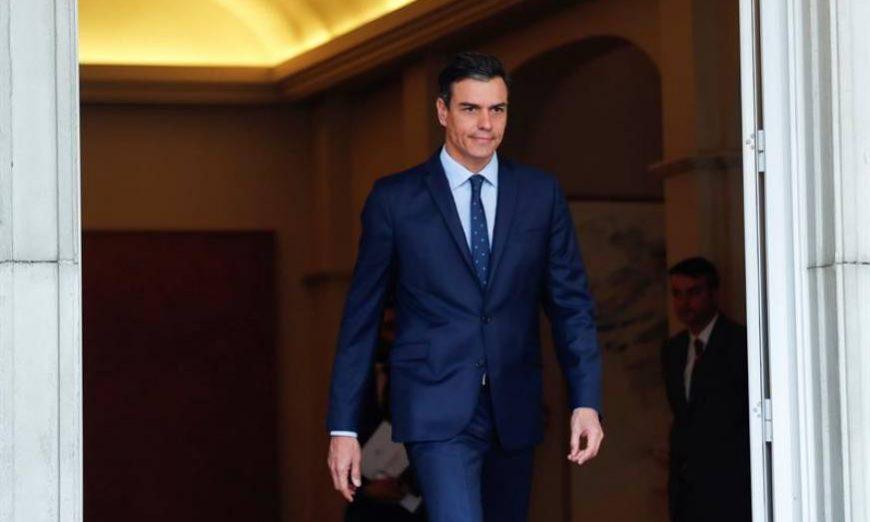 FOTOGRAFÍA. MADRID (ESPAÑA), AÑO 2019. El presidente del Gobierno en funciones, Pedro Sánchez, el pasado 6 de mayo, cuando inició la ronda de contactos con los principales partidos de la oposición tras los comicios del 28A, de cara a su investidura. Efe.
