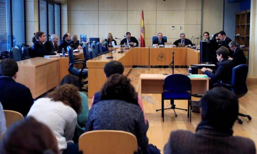 FOTOGRAFÍA. MADRID (ESPAÑA), AÑO 2019. Vista de la Sala de Apelación de la Audiencia Nacional, donde se siguió el caso de Alsasua (Navarra). Efe