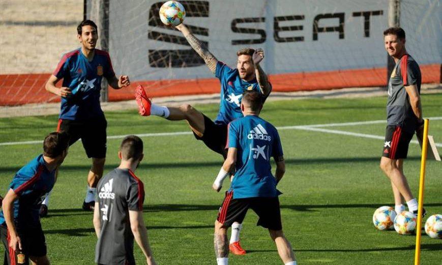 FOTOGRAFÍA. MADRID (ESPAÑA), MES DE JUNIO 2019. Los jugadores de la selección española durante un entrenamiento. Efe.
